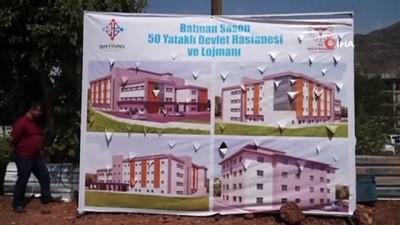 temel atma toreni -  Sason'da 50 yataklı Devlet Hastanesi'nin temeli atıldı
