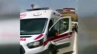 Siirt'te beton mikseri devrildi: 1 yaralı