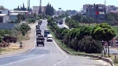 Sınır hattına 150 araçlık askeri konvoy