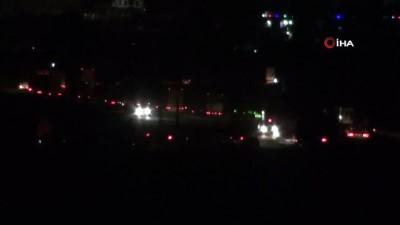 zirhli araclar -  Suriye tarafındaki ABD konvoyu, Nusaybin'den görüntülendi