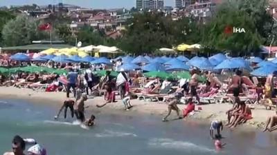 cankurtaran -  Vatandaşlar bayramın 2'nci gününde Silivri sahiline akın etti