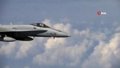 """- Rusya, Şoygu'nun uçağına yaklaşmaya çalışan NATO uçağının görüntüsünü yayınladı - NATO'dan açıklama: """"Tanımlama amacı ile yaklaştık"""" - Gökyüzünde tehlikeli gerilim"""