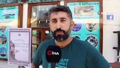 yabanci turist -  Turizm merkezi Kaş'ın nüfusu bayramda ikiye katlandı