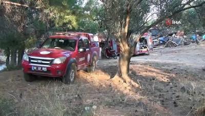 zeytinlik -  Ayvalık Tabiat Parkı içerisinde çıkan samanlık yangını ilçeyi alarma geçirdi
