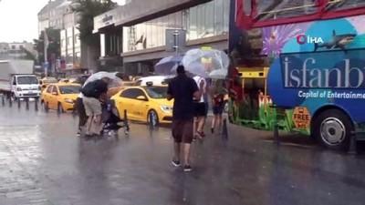 meteoroloji -  İstanbul'da beklenen sağanak yağış başladı