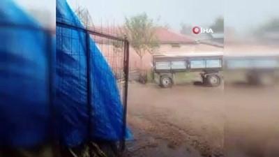Malkara'da şiddetli sağanak