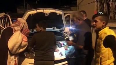 Sarıkamış'ta araç motoruna giren kediler 4 saatte kurtarıldı