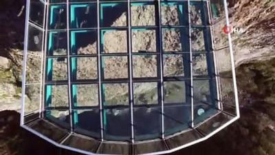 Türkiye'nin en yüksek cam seyir terası havadan görüntülendi
