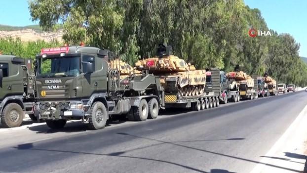 zirhli araclar -  Hatay'da sınır birliklerine tank sevkiyatı sürüyor