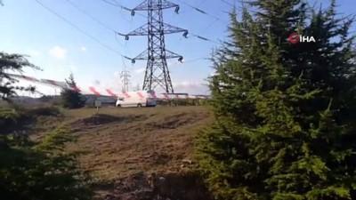 yuksek gerilim hatti -  Kocaeli'de yüksek gerilim direğinin ayaklarında bomba bulundu