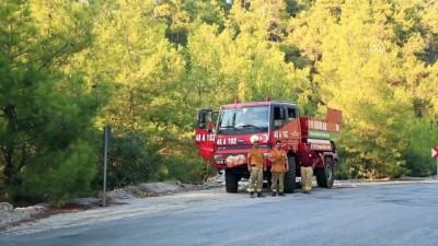 orman yangini - Milas'da çıkan orman yangınında soğutma çalışmaları tamamlandı - MUĞLA
