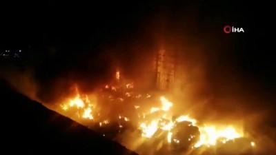 fabrika -  Geri dönüşüm fabrikasında büyük çaplı yangın