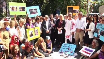 tahrik indirimi - CHP kadın kollarından kadın cinayetlerine tepki - ANKARA