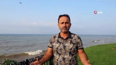 felaket -  Karadeniz'de sel suları tonlarca fındığı denize döktü
