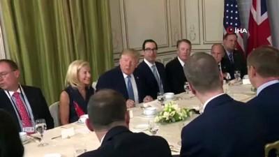 ticaret anlasmasi -  - G7 Zirvesi'nde İkinci Gün - Trump ve Johnson Bir Araya Geldi