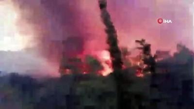 Sisam Adası yanıyor... Yangını tehdit ettiği 5 tatil köyü boşaltıldı Video