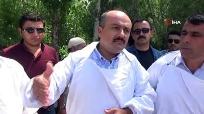 Tarım ve Orman Bakan Yardımcısı Fatih Metin, Alparslan-2 Barajını inceledi