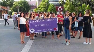 Uşak'ta kadın şiddetine tepki