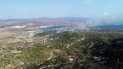 makilik alan - Alaçatı'da makilik alanda yangın - İZMİR