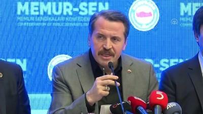 memur - Memur-Sen Genel Başkanı Yalçın: 'Kimse bizden yüzde 14'lük zamma imza atmamızı beklememeliydi' - ANKARA