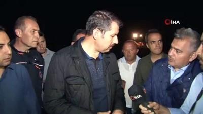 felaket -  Sivas'ta HES santralindeki su kanalı patladı