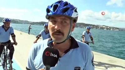 muhabbet -  - Beykoz sahillerinde bisikletli zabıtalar iş başında