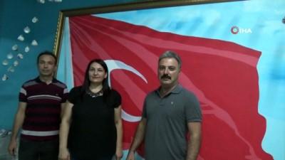 Bu Türk bayrağında 36 bin 647 şehidin ismi var
