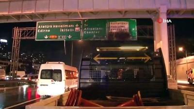 halk otobusu -  TEM Otoyolunda seyir halinde olan özel halk otobüsü küle döndü