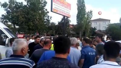 Bursa'da kaza isyanı...Mahalle sakinleri sık sık kaza yaşanan yolu kapattı