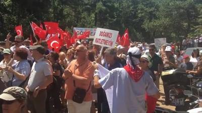 Kaz Dağları'nda binlerce kişi maden arama çalışmalarını ve doğa katliamını protesto etti