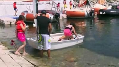 sparta - Eğirdir Gölü'ndeki ücretsiz yaz kursunda yelkenler fora