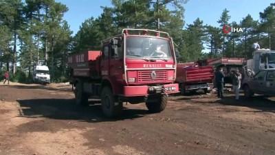 is makinesi -  Orhaneli'de 60 hektarlık ormanlık alan kül oldu