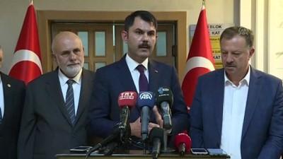 sparta - Çevre ve Şehircilik Bakanı Kurum, Valilikte il değerlendirme toplantısına katıldı (2) - ISPARTA