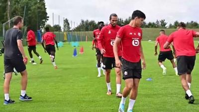 milli futbolcu - Yusuf Yazıcı Lille antrenmanında - LİLLE