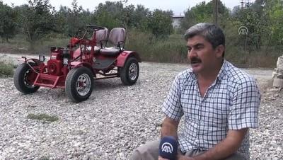hurda arac - Köyde kullanmak için kendi tarım aracını yaptı - MERSİN