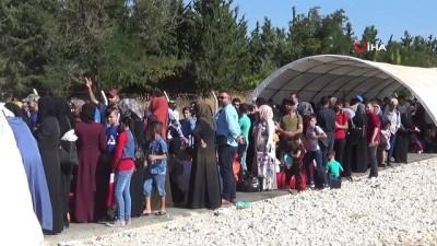 Suriyelilerin ülkelerine gidişleri tamamlandı...Kurban Bayramı için 40 bin 150 Suriyeli ülkesine gitti