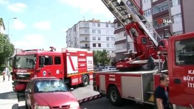 Çıkan yangında mahsur kalanları itfaiye ekipleri böyle kurtardı