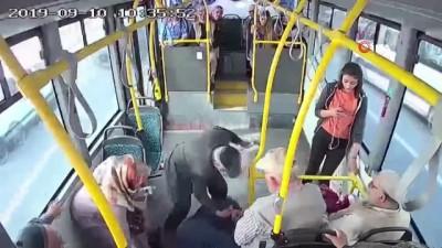 halk otobusu -  Kadının çırpınışlarına dayanamadı, yolcu dolu otobüsle yönünü hastaneye çevirdi