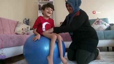 saglik personeli -  6,5 yaşındaki SMA hastası Umutcan ilaçların etkisiyle adeta canlandı