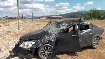 Trafik kazası: 1 ölü, 4 yaralı - TUNCELİ