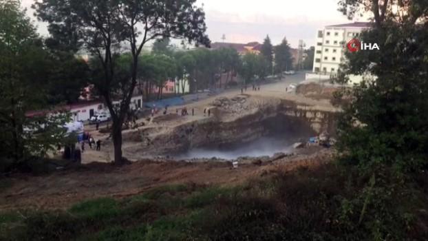 insaat alani -  KTÜ Kanuni Kampüsü inşaat alanında patlama
