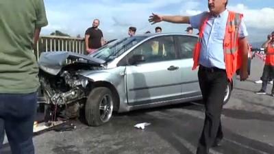 Yaralı sürücüyü ekipler sakinleştirdi - DÜZCE
