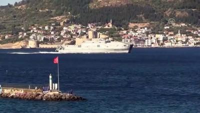 ABD askeri gemisi Çanakkale Boğazı'ndan geçti - ÇANAKKALE