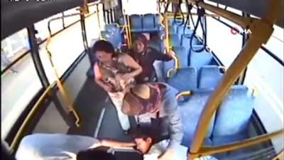 halk otobusu -  Halk otobüsü sürücüsü fenalaşan hamile kadını hastaneye böyle yetiştirdi