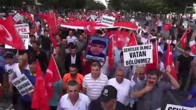siyasi partiler - 'Şehitlere saygı, teröre lanet' yürüyüşü - BATMAN