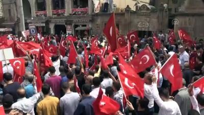 siyasi partiler - Şehitlere saygı teröre lanet yürüyüşü - ŞANLIURFA