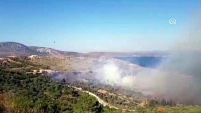 makilik alan - Urla'da makilik alanda yangın - İZMİR