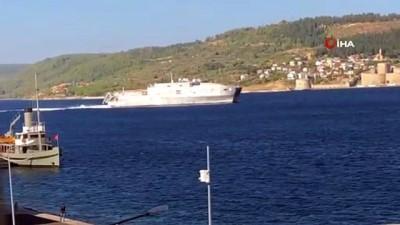 'USNS Yuma' adlı Abd savaş gemisi Çanakkale Boğazı'ndan geçti