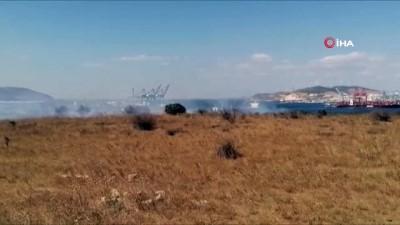 Aliağa'da yangın: 20 dönüm alan zarar gördü