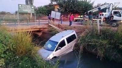 Aydın'da ticari araç sulama kanalına uçtu: 3 yaralı